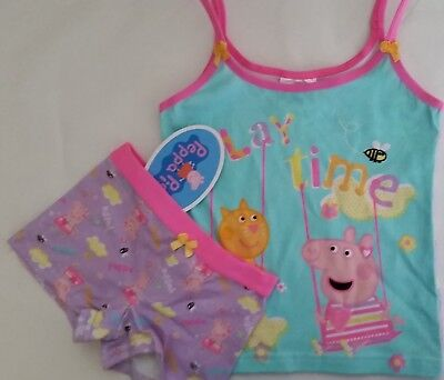 PEPPA PIG Licensed Girl singlet cami & shortie briefs set NEW sizes 2-6