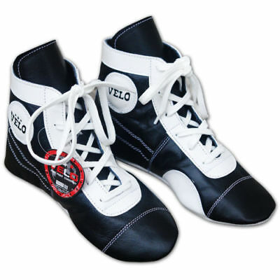 VELO Leather Boxing Boots Light Weight Padding Sole UK 7 EU 40 LN085 AE02