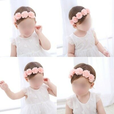 Cute Lace Flower Baby Girl Toddler Headband Hair Band Headwear Accessories Pink