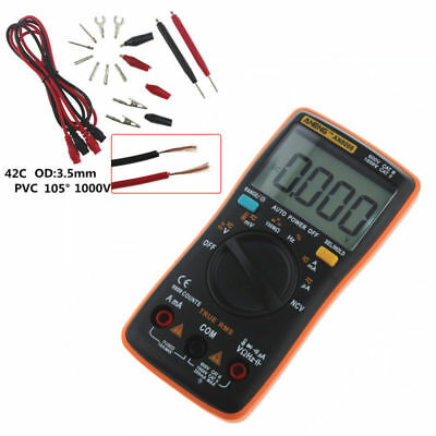 Profi AN8009 Digital Multimeter True RMS 9999 zählt Auto-Range Temperatur AC DC