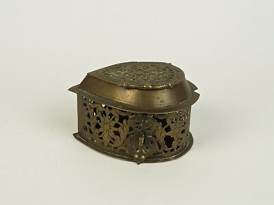 An Unusual 19th Century Indian Jali-Work Brass Betel Box.