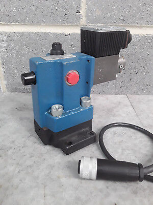 Rexroth Hydraulic Proportional Relief Valve & Subplate DBEME 10-51/50YG24K3ME #