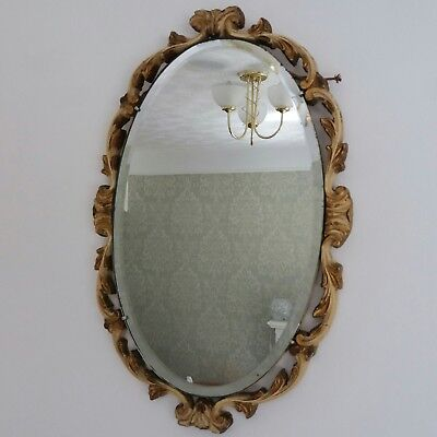 "Atsonea Mirror Vintage Gold Effect Ornate Oval Gilded 18.5"" x 12"" Shabby Chic"