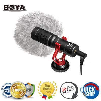 BOYA BY-MM1 3.5mm Cardiod Shotgun Video Microphone MIC Video For iPhone Samsung