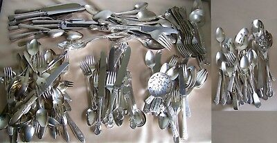 200 Pc Silver Plate Silverware for Service, Resale, or Crafts