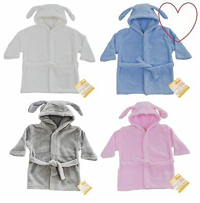 Girls Boys Dressing Gown Baby Toddler Robe Sleepwear Fleece Nightwear
