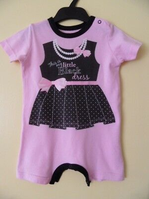 """""""Little Black Dress"""" PINK SUMMER BODY PLAYSUIT FOR BABY GIRL 6-12 MONTH ,VGC"""