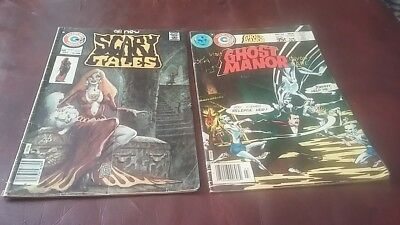 Charlton Comics Scary Tales Vol 1 # 3 1975 and Ghost Manor #36 1978