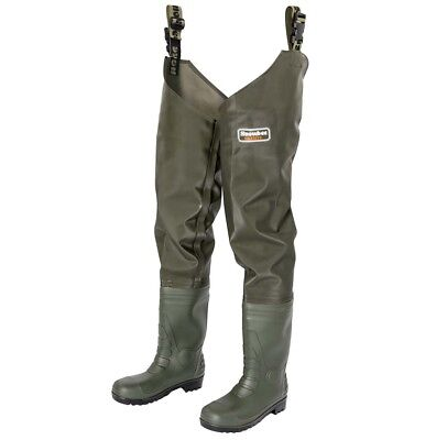 Snowbee Granite TOUGH PVC THIGH Waders Fishing Wader Hunting Rubber Boot NEW