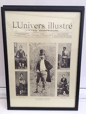 Vintage Newspaper, 1897 LUnivers Illsutre, professonally Mounted for display
