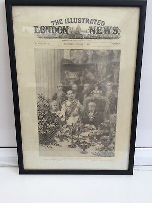 Vintage Newspaper, 1897 the Illustrated London News professionally Mounted