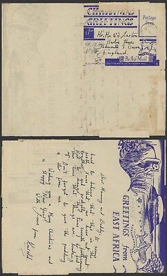 South Africa WWII 1944 Illustrated Field post air Letter to England Censor 23468