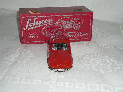 Schuco 1048/1 - Automatic Racer 1048 - 1:43 Opel GT rot - Holzbox