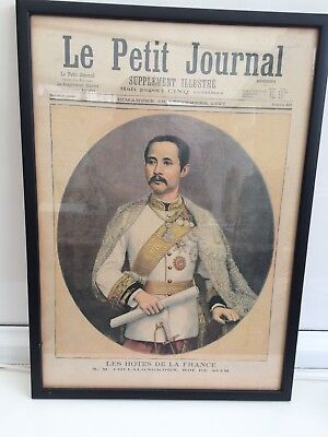 Vintage Newspaper, 1897 LE Petit Journal , professionally Mounted
