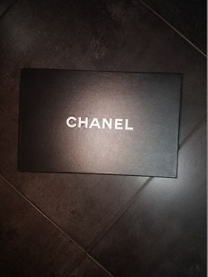 "1a9ef1bb5ceef2 CHANEL BLACK EMPTY Storage Shoe Box Gift Authentic 8"" x 12"" x 5 ..."