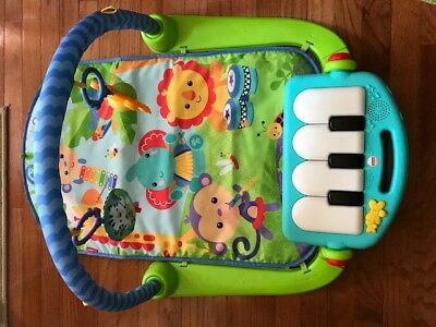 Fisher Price Baby Kick & Play Music Piano Gym Play Mat toy