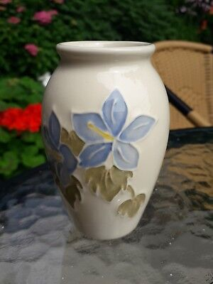 Old Moorcroft Campanula Vase - Blue Flower on white background