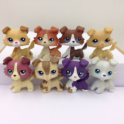 5* Littlest Pet Shop Toys Random Collie Puggy Dog Sets #2210#2452#1542#1262 LPS