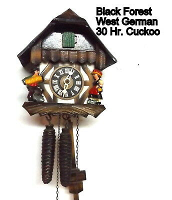 Vintage Black Forest, Small Chalet Cuckoo Clock, running well
