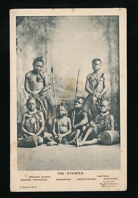 Africa PYGMIES Royal Family Ethnic c1900/20s? PPC some staining