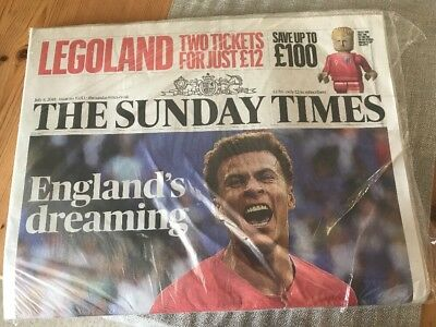THE SUNDAY TIMES 8th Of July 2018 ENGLAND's DREAMING NEW