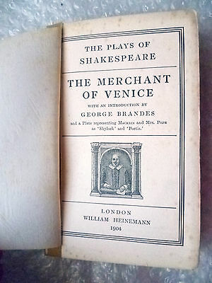 Literature- 1904 The Merchant of Venice by W Shakespeare