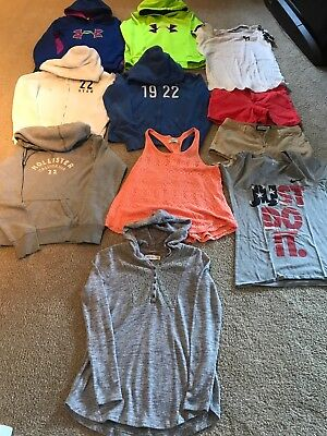 Lot Girls Clothes Size 14-16 Abercrombie Kids, P!nk, Hollister, Under Armour