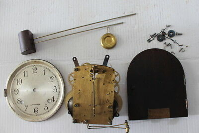 Vintage Herschede 8 Day Clock Movement with Misc. Lot  Runs  12 Photos