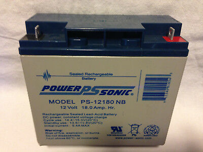 Battery Power Sonic PS-12180 NB 12V 18.0Ah Sealed Lead Acid SLA AGM Yuasa New