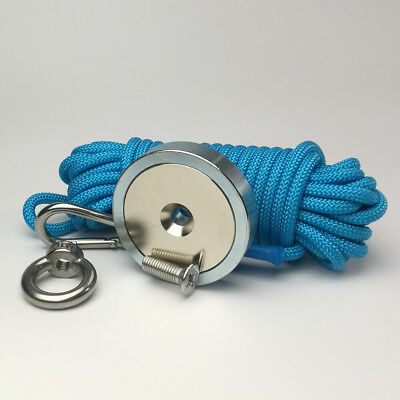300KG Strong Recovery Magnet 10M Rope Powerful Neodymium Metal Detect Fishing