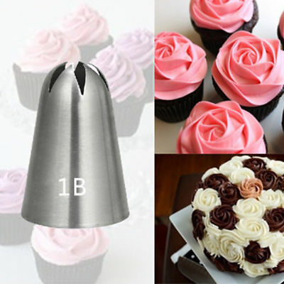 #1B Large Size Rose Flower Cream Icing Piping Nozzle Stainless Steel Pastry Tips