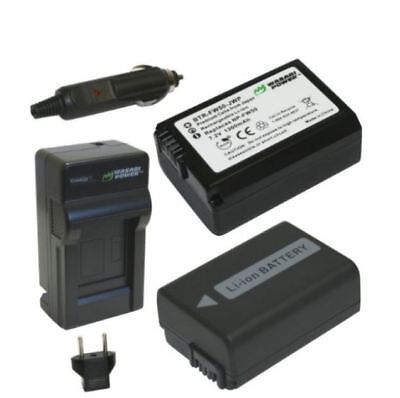 Wasabi Power Battery 2-Pack & Sony NP-FW50 Camera Battery Charger