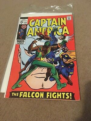 Captain America # 118, Second Falcon Appearance, Good Copy , Marvel Silver Age