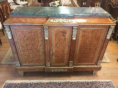 Antique French Louis XV Marble Top Beffet