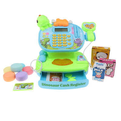 Supermarket Electronic Cash Register Play Food Prop Pretend Play Cashier Toy