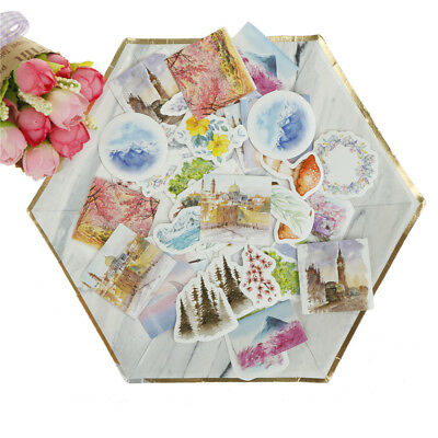 40pcs travel words paper seal sticker decor label diary scrapbooking stickerSTAB