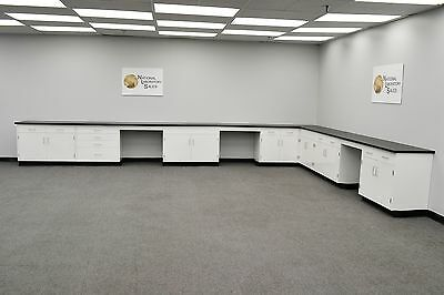 4' x 15' Base laboratory Furniture Fisher Cabinets /Case Work / Benches /Tops.-