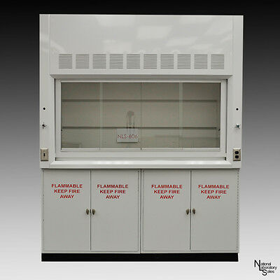 6' NEW white NLS-601 Laboratory Chemical Fume Hood & Flammable Cabinets
