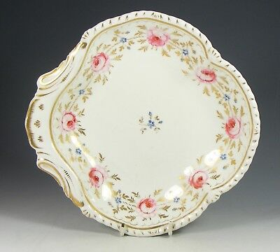 Antique Early 19Th Century Bloor Derby Porcelain Dish