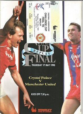 CRYSTAL PALACE v MANCHESTER UTD, F.A Cup Final REPLAY (includes ticket) 1990