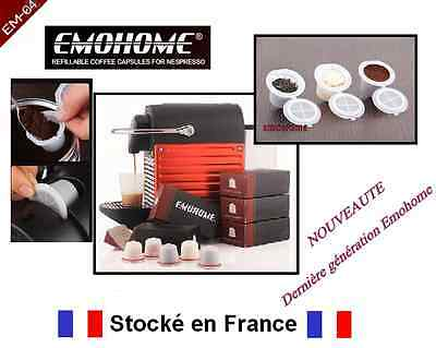 10 Capsules Emohome Pour Machine Cafe Nespresso Expresso Dosette Rechargeable