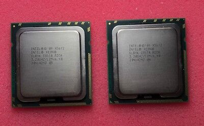 matched pair Intel Xeon X5672 3.2GHz Quad-Core (AT80614005922AA) Processor SLBYK