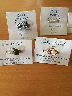 Vintage Avon Sarah Coventry Rings Various Sizes Lot of 25 1975-1980