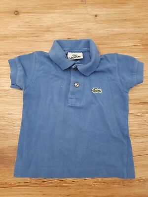 Genuine kids/boys Lacoste polo size 1 (6 months) blue