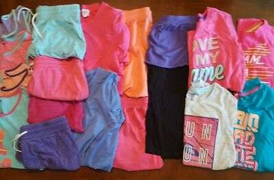 Girls XL Danskin Outfit Lot Tank Tops SS LS Tees Shorts Capri 14/16 BTS Athletic