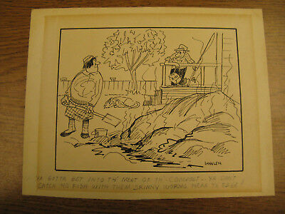 Len Whalen original cartoon Vancouver Sun series titled The BC Rangitangs 1960's