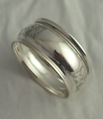 Edwardian Solid Silver Napkin Ring - Chester 1908
