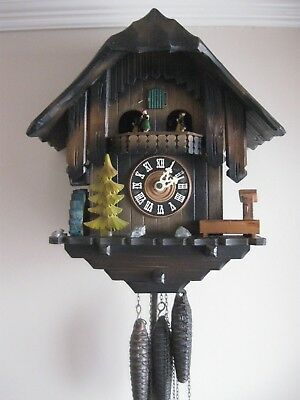 Antique German Black Forest Musical Cuckoo Clock