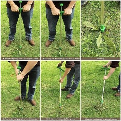 Weed Puller Weeder Twister Garden Lawn Root Remover Killer Grabber Hand Tool