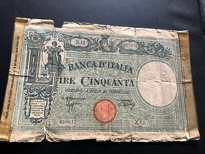 italy currency 50 lire d1017